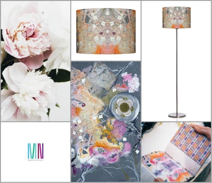 collage abajur blossom