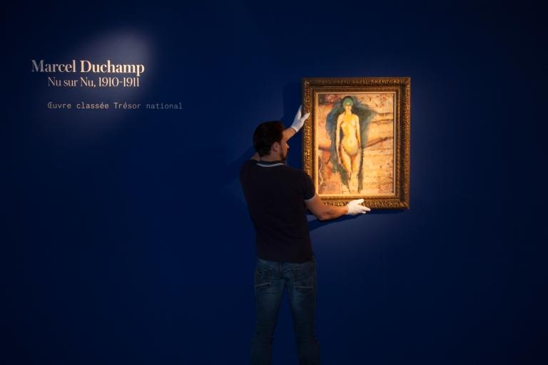 Marcel Duchamp, Nu sur nu (aux cheveux verts), 1910-1911, huile sur panneau - in situ 7 - © Artcurial