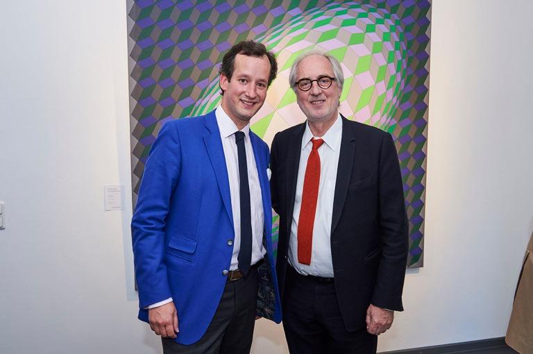 Martin Guesnet and Moritz von der Heydte inaugurating Artcurial's office in Munich © Artcurial